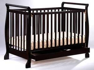 Brand New 3in1 Wooden Baby Cot Crib Toddler Bed Spring Mattress Auburn Auburn Area Preview