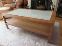 Coffee Table Glassed Topped in Great Condition