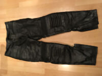 Dynamic Leather Motorbike Jeans Size 34