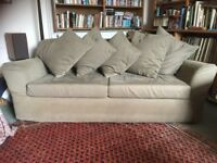 Ikea sofabed olive cotton twill removable covers