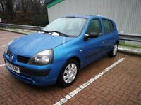 RENAULT CLIO 1.4 AUTOMATIC IN GOOD CONDITION. MOT AUGUST 2018. SUNROOF. ALL PREVIOUS MOT AVAILABLE.