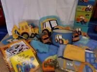 Next Digger bedroom range including toys