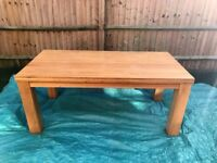 Contemporary Chunky Large 6ft x 3ft Natural Solid Oak Dining Table