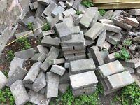 Grey edgeing bricks