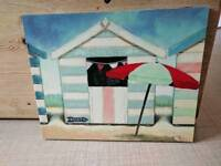 Beach scene canvas