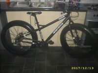 Coyote Fatman Fatbike Literally As New Condition Disc Brakes Snow Or Sand Cost £399.99 BARGAIN!!