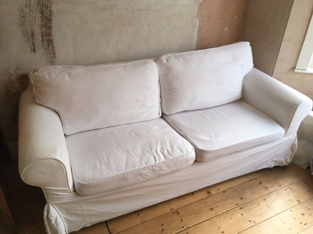 white ikea ektorp two seater sofa bed in southville bristol gumtree. Black Bedroom Furniture Sets. Home Design Ideas