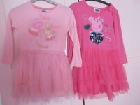 peppa pig party dresses x 2