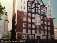 property for sale: 1 bed flat with balcony, 2nd floor, St Johns wood, London.