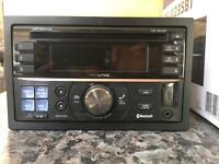 Alpine CDE-W235BT Double Din Parrot Bluetooth CD Player with USB