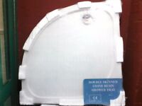 DOUBLE SKINNED STONE RESINE SHOWER TRAY 800 X 800 QD Reduce to Clear £30.00