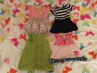 Mixed 4 dresses from 3-9 months