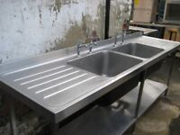 Commercial double bowl sink No Offers.
