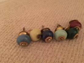 Vintage colourful drawer handles