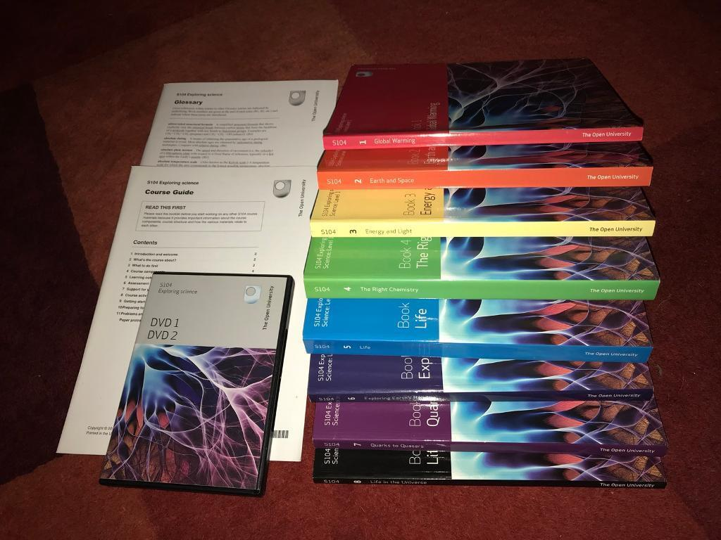 Open University S104 Exploring Science level 1 course books / materials