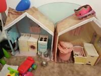Rose petal cottage toy tent