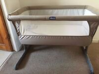 Chicco Next2me - Dove Grey used for 4 months, great condition