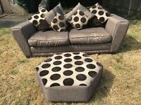 DFS SOFA WITH FOOT REST