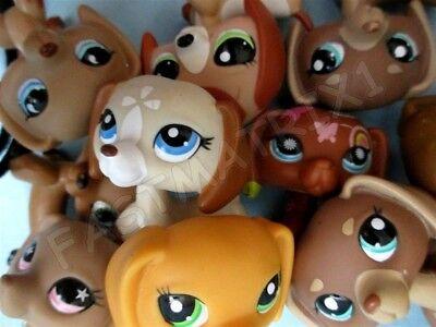 Littlest Pet Shop Lot 3 Random Dachshund Weiner Puppy Dog and Gift Bag Best Deal