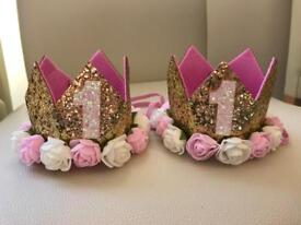 New!Baby 1st 2nd Birthday Party Crown.