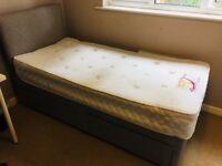 Single divan beds with elastacoil memory foam mattress