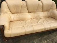 3 seater and 2 seater leather sofas FREE