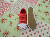 Red Canvas summer shoes - childs size 7