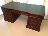 Reproduction Double Pedestal Partners Desk. Good Condition.