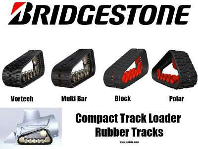 Set Of 2 Bridgestone Rubber Tracks Takeuchi Tl10v2