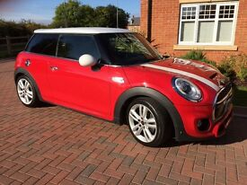 Mini Cooper S 3 door hatch 2.0 twin turbo with John Cooper Works sports pack and exhaust upgrade