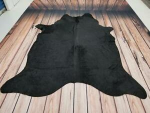 Black Cowhide Rug Brazilian Large Cow Skin Rugs Free Shipping Canada Wide 90 X 74 Inches 1494