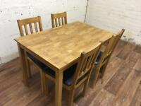 Lovely solid oak kitchen table and chairs (free delivery)