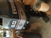 Outboard Motor 8 hp. Evinrude Approx.1999 Excellent Condition