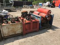 Old lpg gas bottles