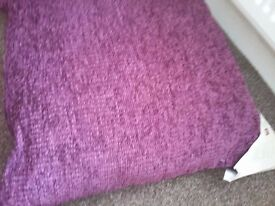 Large Purple cushion size 50 x50 brand new with tags