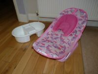 BABY BATH SEAT WASHING BOWL.BOTH FROM MOTHERCARE