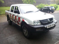 mitsubishi l200 gl 4work lwb 4x4 double cab turbo diesel 2006 06