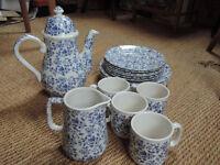 Blue + White coffee set