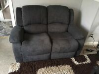 2 Seater Sofa + Armchair Grey colour