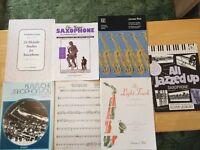Selection of Alto Saxophone Sheet Music