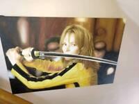 kill bill - uma thurman - oil painted canvas