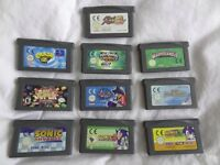 NINTENDO GAMEBOY ADVANCED GAMES SELECTION / PAY PAL / FREE POSTAGE.