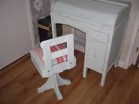 shabby chic Childs 1950/60 Roll Top Childs School Desk By Taylor's Of Leicester