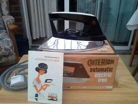 Vintage 1980s Criterion BR26 Electric Iron - unused/boxed/instructions