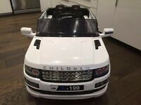 Kids remote control ride in car 12v Range rover sport, Evoque and vogue white