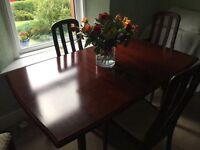 Mahogany table and chairs for Sale