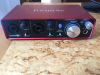 Brand New - Focusrite Scarlett 2i2 2nd Gen - Immaculate + Superlux Studio Headphones