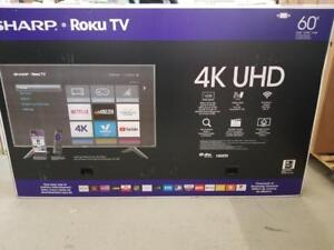 ***LIQUIDATION OPEN BOX*** - SHARP 60 PO 4K ROKU SMART - BOOM LIQUIDATION