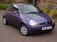 EXCELLENT VALUE!!! 2008 FORD KA 1.3 STYLE, 1 OWNER FROM NEW, ONLY 61000 MILES, LONG MOT, WARRANTY