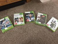 Xbox 360 + 2 wireless controllers + games